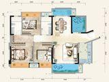佳兆业时代可园_3室2厅2卫 建面131平米