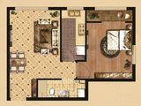 京南狮子城丁香园_1室2厅1卫 建面69平米