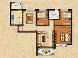 恒大翡翠华庭_3室2厅1卫 建面117平米