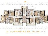 沙湖绿洲_4室2厅2卫 建面181平米