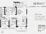 碧桂园西湖_3室2厅2卫 建面115平米