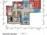 龙湖中央公园_4室2厅2卫 建面149平米