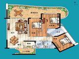 敏捷黄金海岸_3室2厅3卫 建面169平米