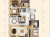 万国城moma_3室2厅3卫 建面257平米