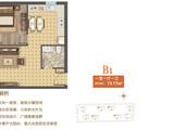 福成 尚领时代_B-1 一室一厅一卫 建面73平米